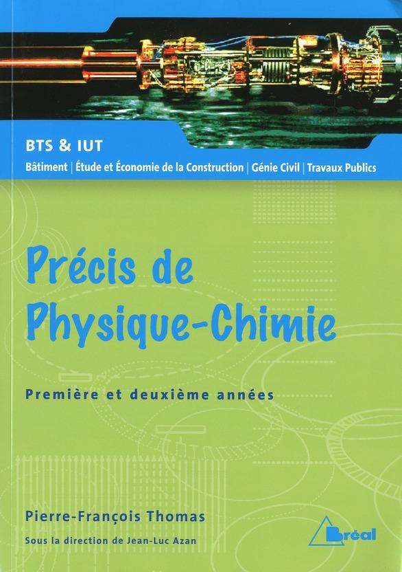 PRECIS DE PHYSIQUE CHIMIE BTS BATIMENT