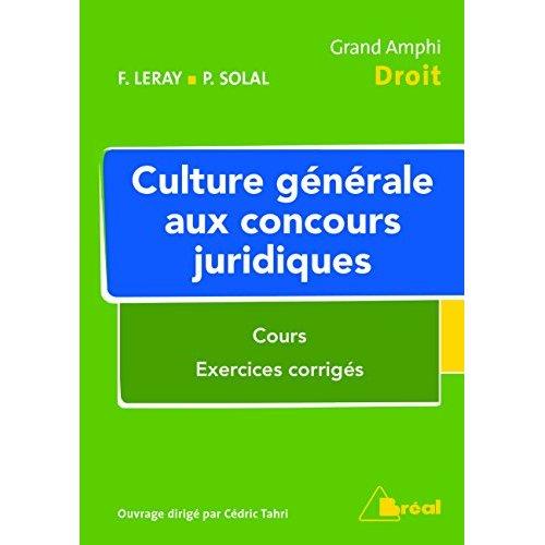 CULTURE GENERALE AUX CONCOURS JURIDIQUES