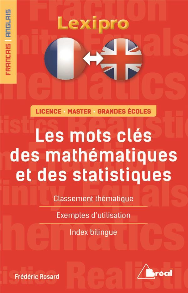 MOTS CLES DES MATHEMATIQUES ET DES STATISTIQUES FRANCAIS/ANGLAIS
