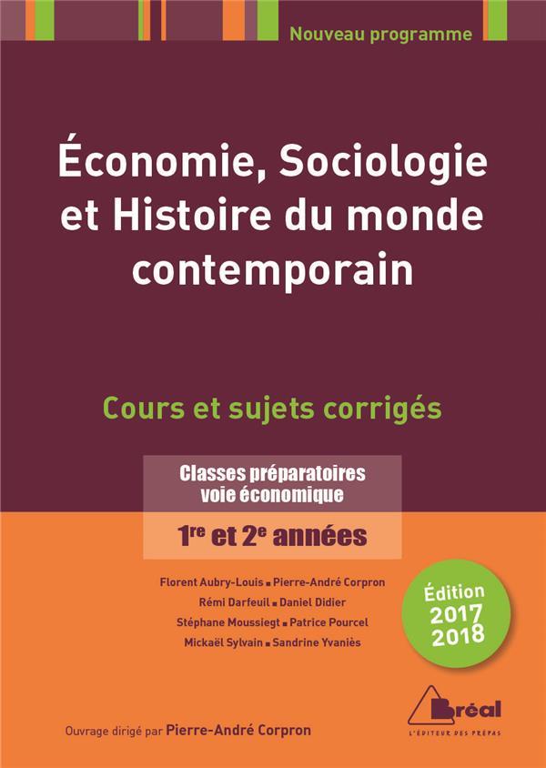 ECONOMIE SOCIOLOGIE ET HISTOIRE DU MONDE CONTEMPORAIN 2017/2018