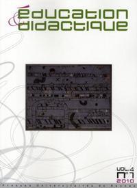 EDUCATION ET DIDACTIQUE VOL 4/1