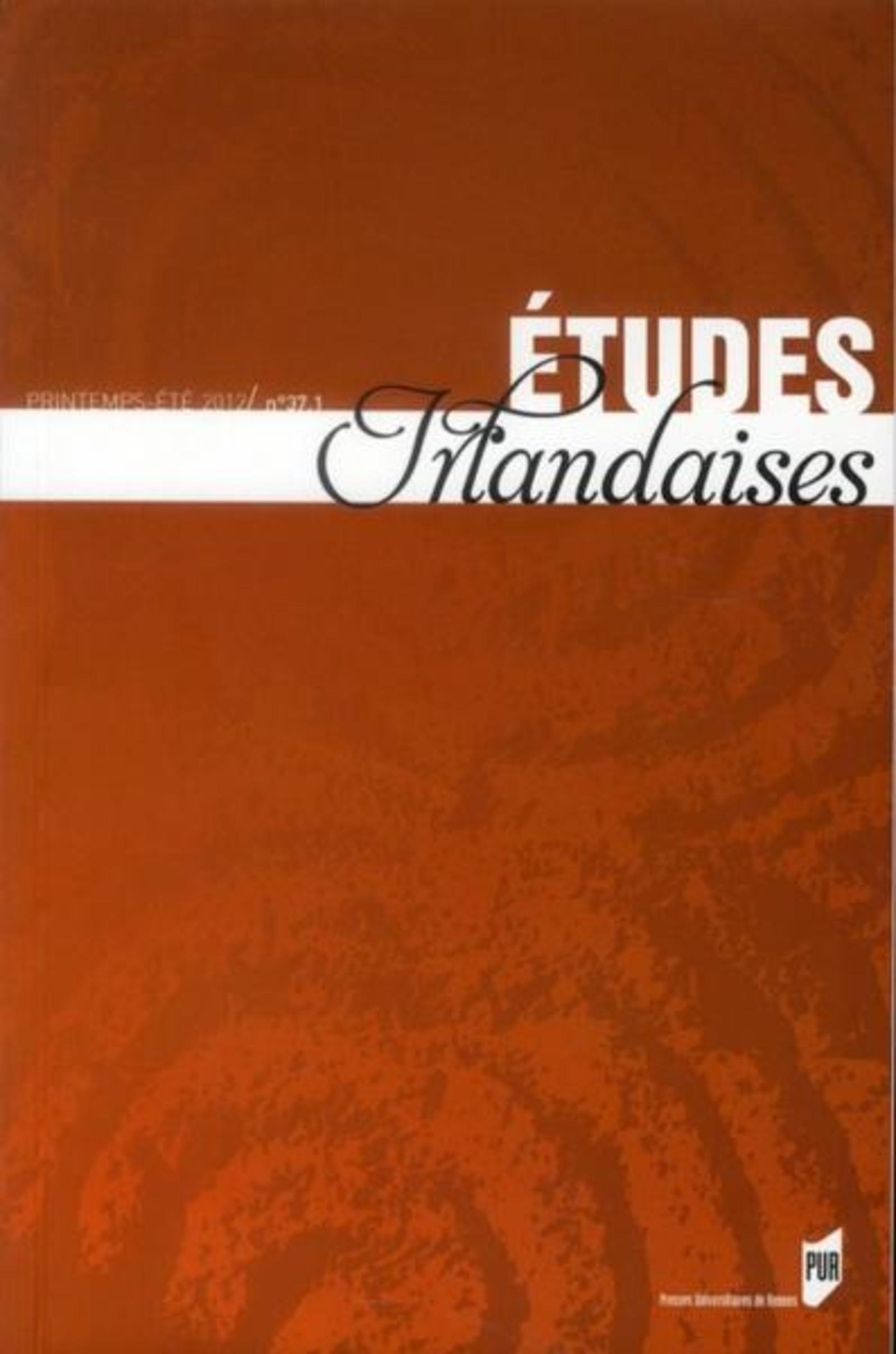 ETUDES IRLANDAISES 37 1