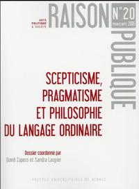 SEPTICISME PRAGMATISME ET PHILOSOPHIE DU LANGAGE ORDINAIRE