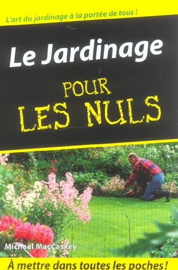 JARDINAGE POCHE POUR LES NULS
