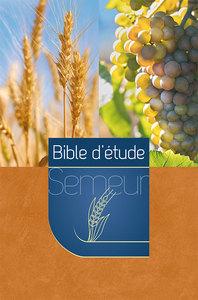 BSE BIBLE D ETUDE SEMEUR. COUVERTURE RIGIDE MARRON ORANGE ILLUSTREE