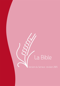 BIBLE SEMEUR RELIURE SOUPLE ROSE TRANCHES BLANCHES