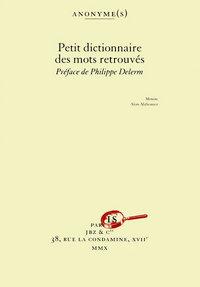 PETIT DICTIONNAIRE DES MOTS RE