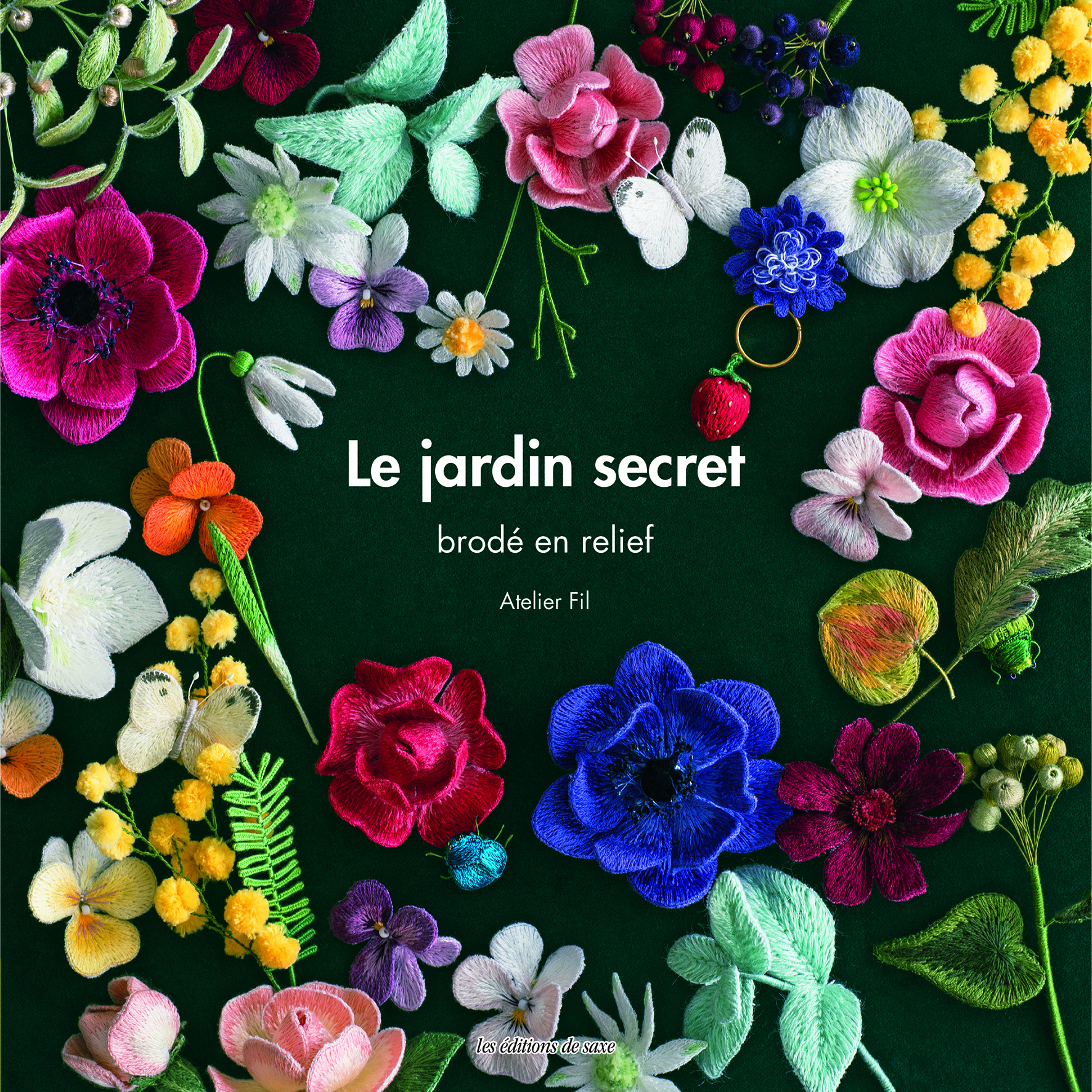 LE JARDIN SECRET BRODE EN RELIEF