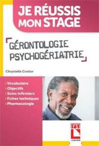 GERONTOLOGIE  PSYCHOGERIATRIE - VOCABULAIRE  OBJECTIFS SOINS INFIRMIERS  FICHES TECHNIQUES  PHARMACO