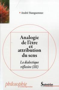 ANALOGIE DE L''ETRE ET ATTRIBUTION DU SENS