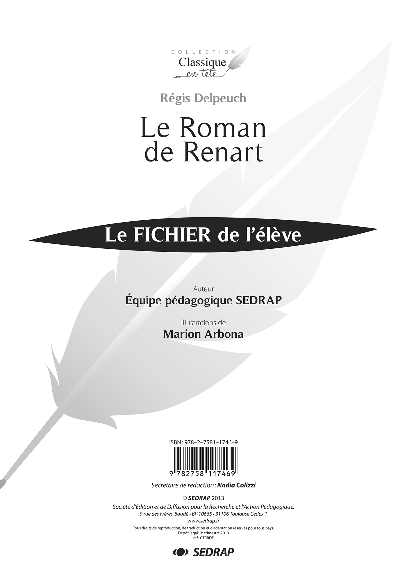 ROMAN DE RENART - FICHIER