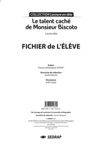 TALENT CACHE DE MONSIEUR BISCOTO - FICHIER