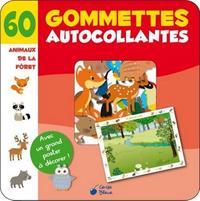 ANIMAUX DE LA FORET POCHETTE 60 GOMMETTES REPOSITIONNABLES
