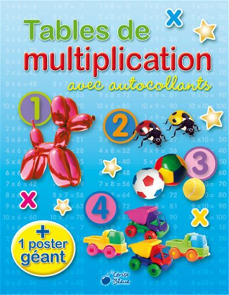 TABLES DE MULTIPLICATION AVEC AUTOCOLLANTS