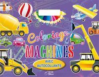 COLORIAGE MACHINES A POIGNEE AVEC AUTOCOLLANTS
