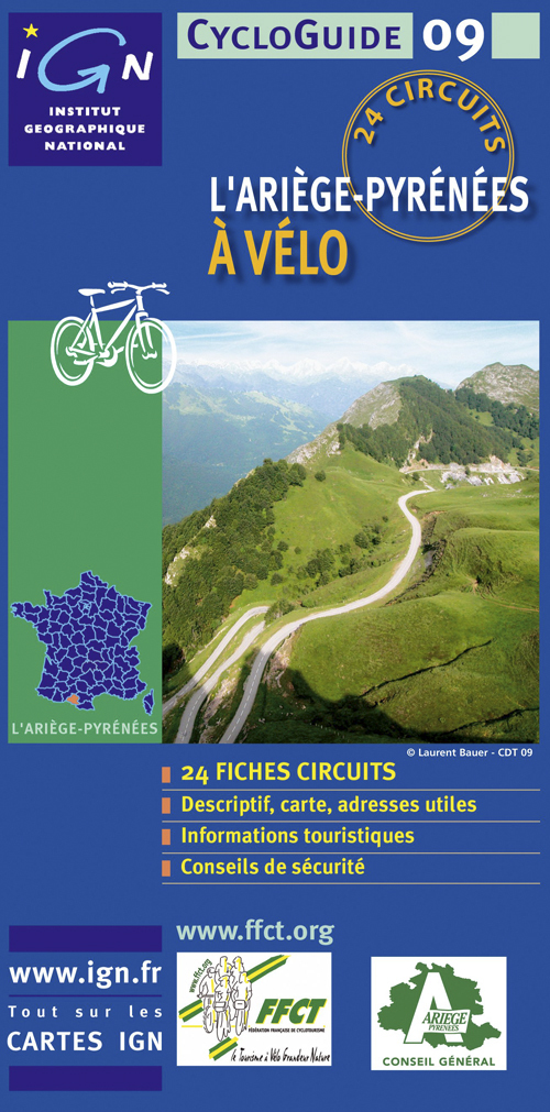 CYCLOGUIDE 09 L'ARIEGE-PYRENEES A VELO