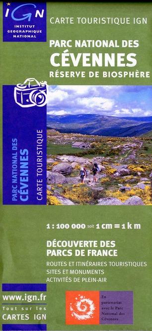 PARC NATIONAL DES CEVENNES  1/100.000