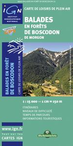 82095 BALADES EN FORETS DE BOSCODON DE MORGON  1/25.000