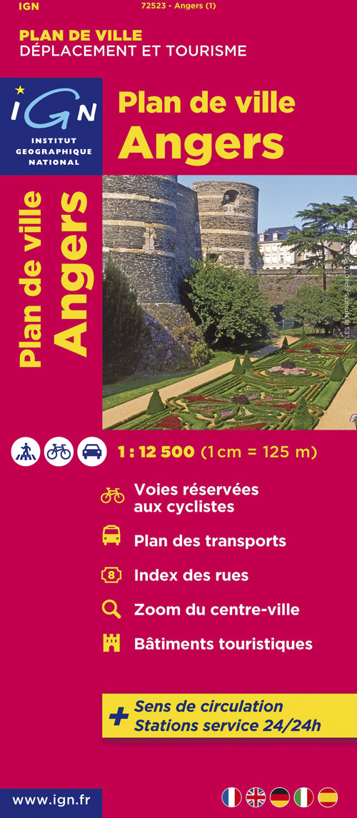 72523 PLAN D'ANGERS  1/12.500