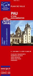 72366 PLAN DE PAU ET SON AGGLOMERATION  1/10.000