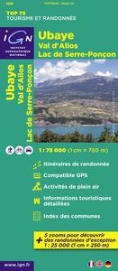 AED UBAYE/VAL D'ALLOS  1/75.000