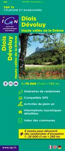 TOP75009 DIOIS/DEVOLUY/HTE VALLEE DE LA DROME  1/75.000