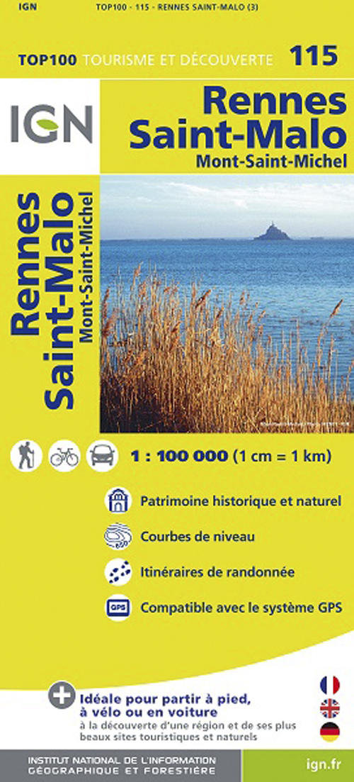 AED TOP100115 RENNES/SAINT-MALO  1/100.000