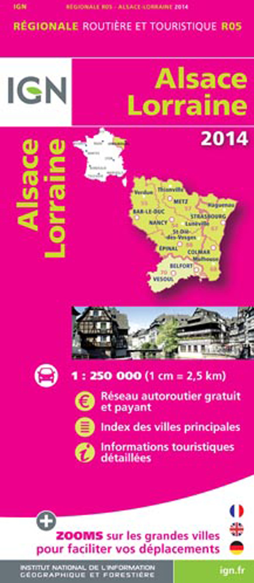 AED ALSACE/LORRAINE 2014  1/250.000