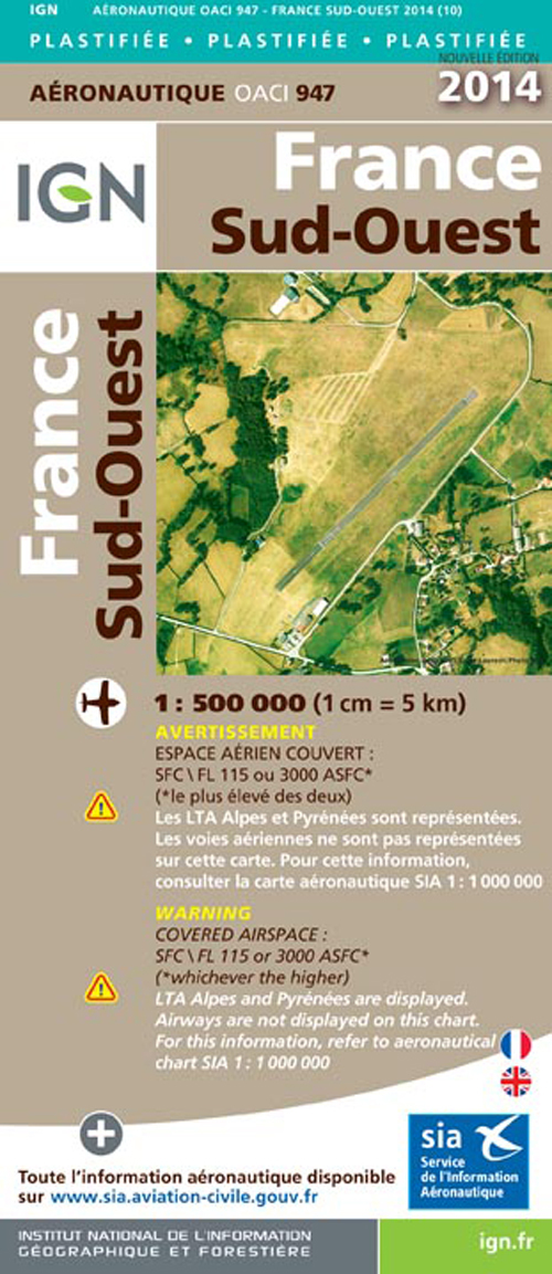 AED OACI947 FRANCE SUD-OUEST PLAST.2014