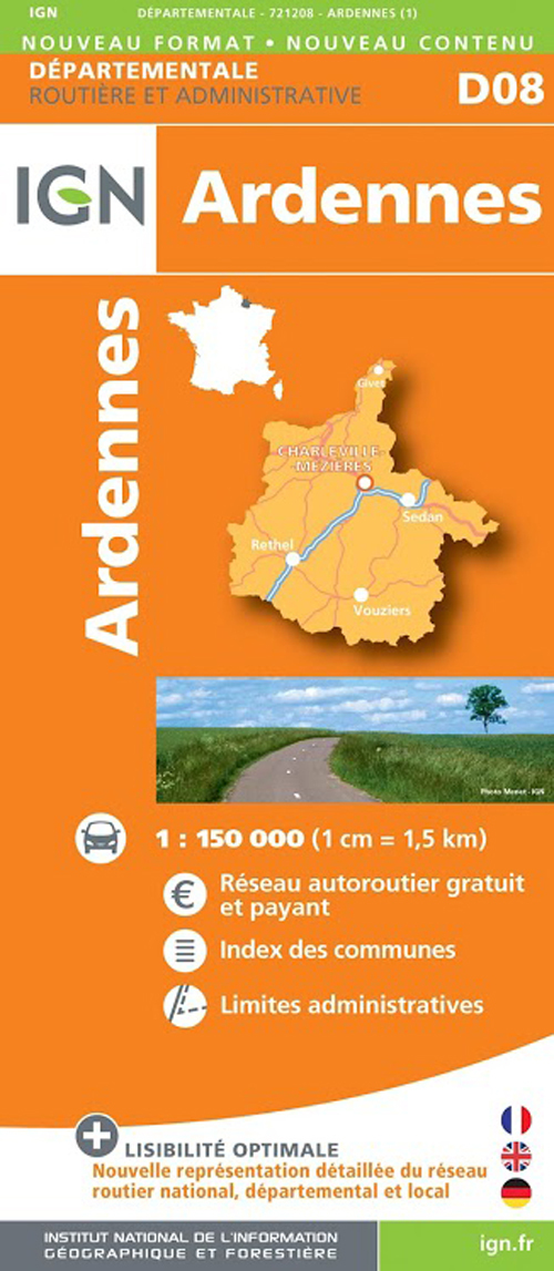 D08 ARDENNES  1/150.000