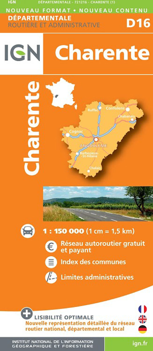 AED D16 CHARENTE  1/150.000