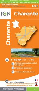 D16 CHARENTE  1/150.000