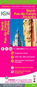 R01 NORD/PAS-DE-CALAIS/PICARDIE  1/250.000