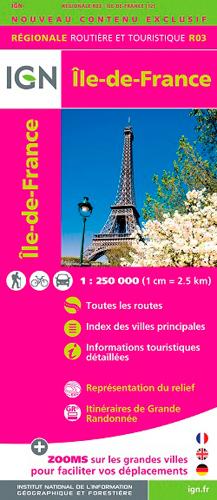 R03 ILE-DE-FRANCE  1/250.000