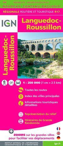 AED R17 LANGUEDOC/ROUSSILLON  1/250.000