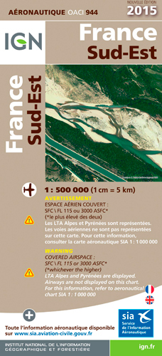 AED OACI944 FRANCE SUD-EST 2015  1/500.000