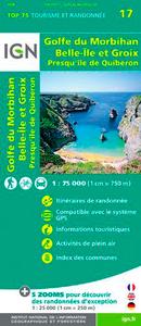 TOP75017 GOLFE DU MORBIHAN/ILE DE GROIX  1/75.000