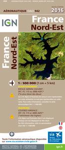 OACI942 FRANCE NORD-EST 2016  1/500.000