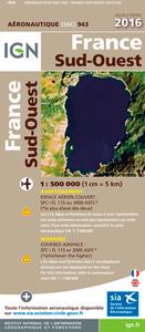 OACI943 FRANCE SUD-OUEST 2016  1/500.000
