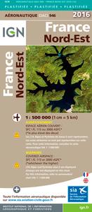 OACI946 FRANCE NORD-EST PLASTIFIEE 2016  1/500.000