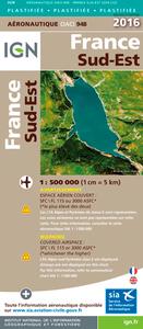 OACI948 FRANCE SUD-EST PLASTIFIEE 2016  1/500.000