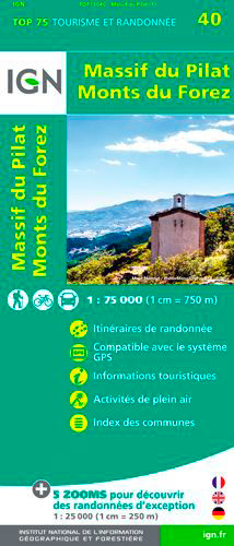 TOP75040 MASSIF DU PILAT/MONTS DU FOREZ