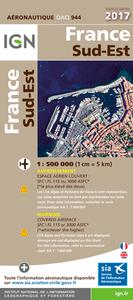 OACI944 FRANCE SUD-EST 2017 1/500.000