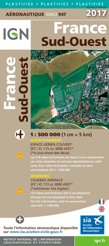 AED OACI947 FRANCE SUD-OUEST PLASTIFIEE 2017 1/500