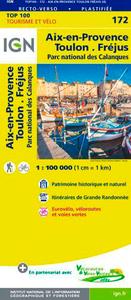 TOP100172 AIX-EN-PROVENCE/MARSEILLE/FREJUS  1/100.000