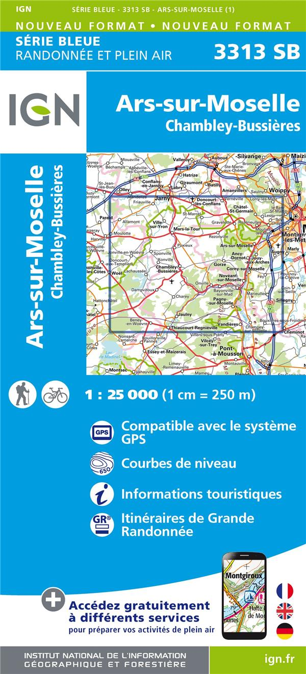 3313SB ARS-SUR-MOSELLE.CHAMBLEY-BUSSIERES