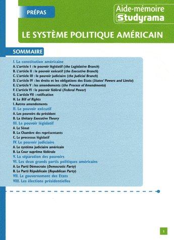 SYSTEME POLITIQUE AMERICAIN (LE)