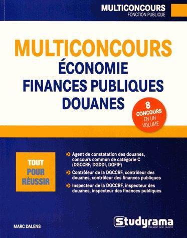 MULTICONCOURS ECONOMIE FINANCES PUBLIQUES DOUANES
