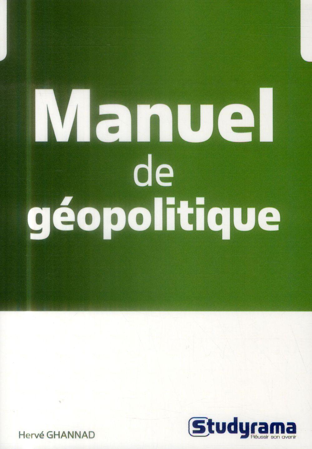 MANUEL DE GEOPOLITIQUE