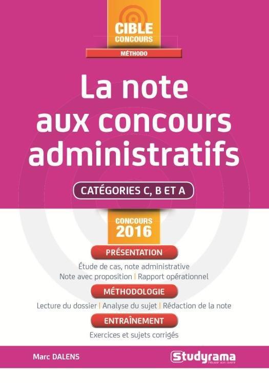 REUSSIR L'EPREUVE DE NOTE ADMINISTRATIVE EN 8 ETAPES